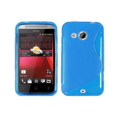 S Line silikon skal HTC Desire 200 Blå