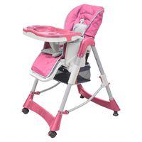vidaXL Barnstol Deluxe höjdjusterbar rosa