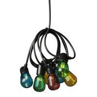 KONSTSMIDE Partylampor med 20 ovala lampor flerfärgade