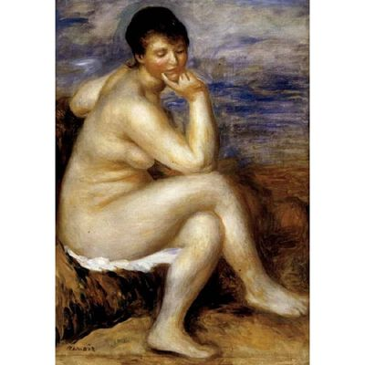 Bather with a Rock,Pierre Renoir,50x40cm