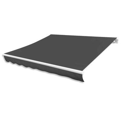 vidaXL Markisduk antracit 450x300 cm