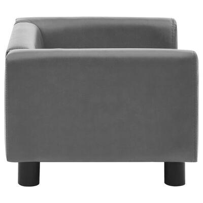 vidaXL Hundsoffa grå 60x43x30 cm plysch och konstläder
