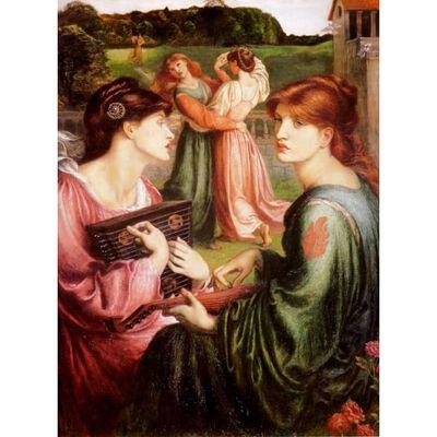 The Bower Meadow,Dante Gabriel Rossetti,50x40cm