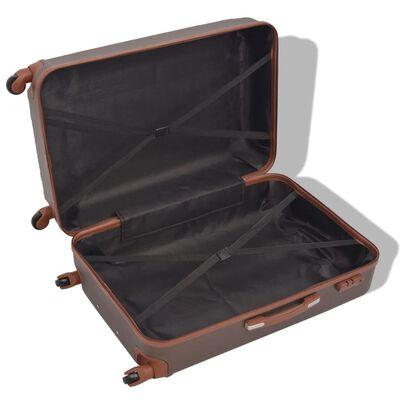 vidaXL Uppsättning hårda resväskor 4 st kaffe