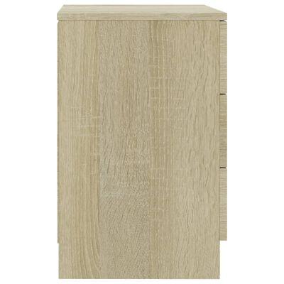 vidaXL Sängbord 2 st sonoma ek 38x35x56 cm spånskiva