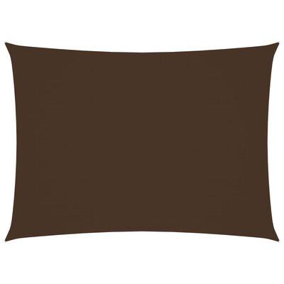vidaXL Solsegel oxfordtyg rektangulärt 2,5x3,5 m brun