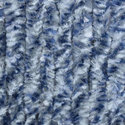 vidaXL Insektsdraperi blå och vit 56x200 cm chenille