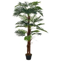 vidaXL Konstväxt Palm med kruka 165 cm grön