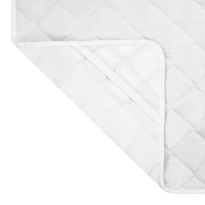 vidaXL Kviltat madrasskydd vit 160x200 cm lätt