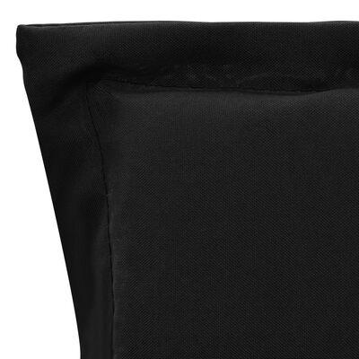 vidaXL Stolsdynor för trädgården 2 st svart 120x50x3 cm