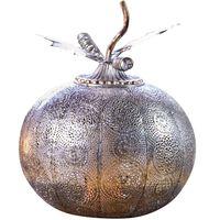 Luxform Batteridriven trädgårdslampa Pumpkin LED antik silver