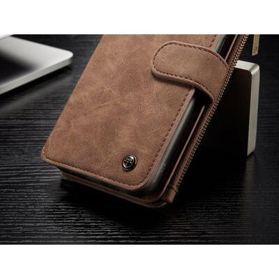 CASEME Samsung Galaxy S8 Plus Retro läder plånbokfodral Brun