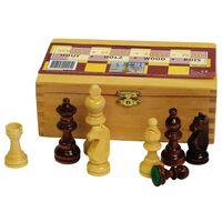 Abbey Game Schackpjäser 87 mm svart/vit 49CL