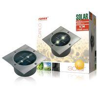 Ranex Soldriven spotlight fyrkantig 0,12 W silver 5000.198