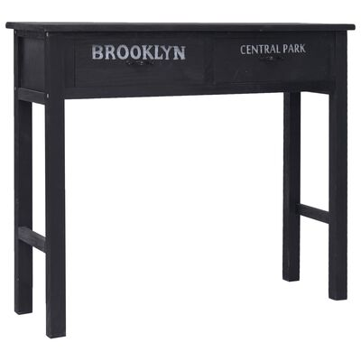 vidaXL Avlastningsbord svart 90x30x77 cm trä