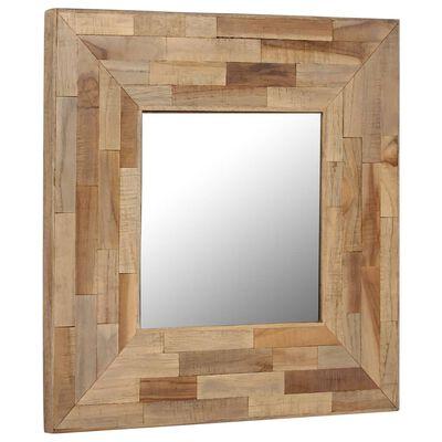 vidaXL Spegel i återvunnen teak 50x50 cm