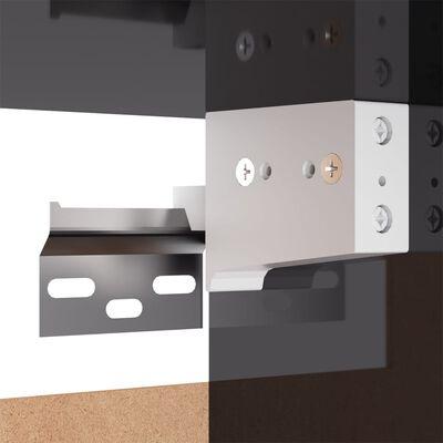 vidaXL TV-skåp grå högglans 30,5x30x90 cm spånskiva