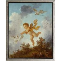 Med ram Pursuing a dove,Jean-Honore Fragonard,61x51cm