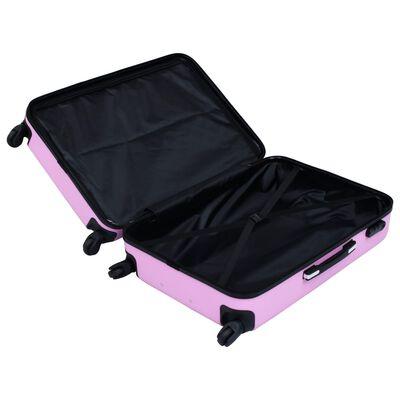 vidaXL Hårda resväskor 3 st rosa ABS