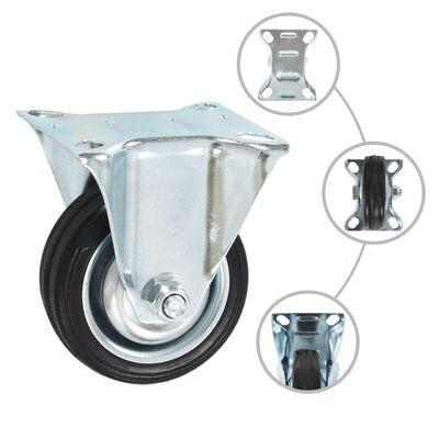 vidaXL Fasta hjul 12 st 75 mm