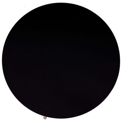 vidaXL Matgrupp 5 delar tyg svart
