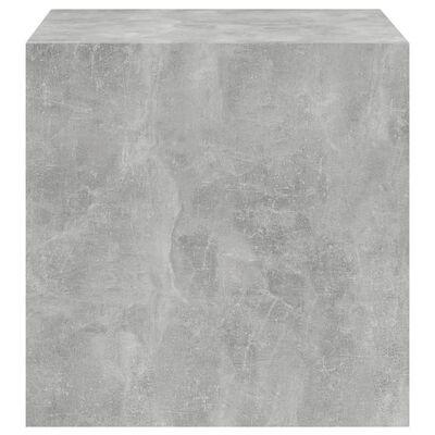 vidaXL Väggskåp betonggrå 37x37x37 cm spånskiva