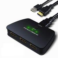HDMI switch 3x1 med HDR, 3D och 4K (2160p)