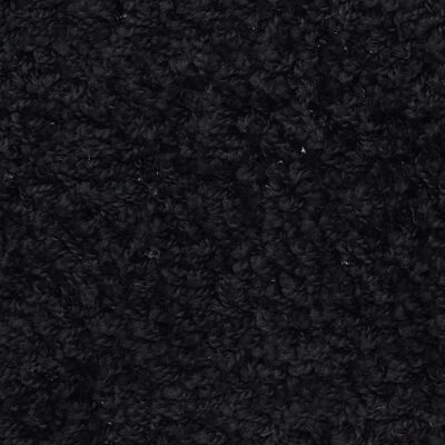 vidaXL 15 st Trappstegsmattor svart 65x25 cm