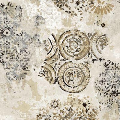 Zero Tapet Etnic Circles sand