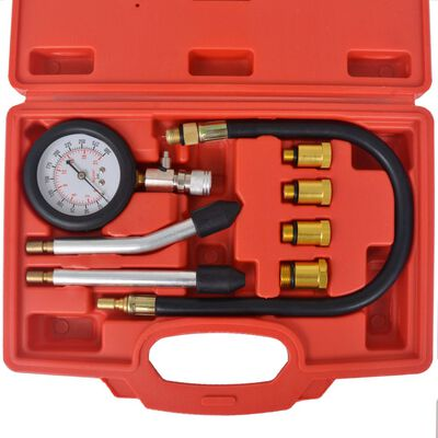 vidaXL Kompressionstest kit för bensinmotor 8 delar