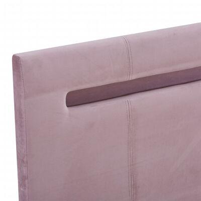 vidaXL Sängram med LED rosa tyg 120x200 cm
