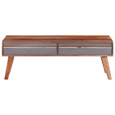 vidaXL Soffbord grå 110x50x40 cm massivt sheshamträ