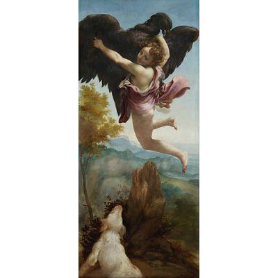 The Abduction of Ganymede,Correggio,80x40cm