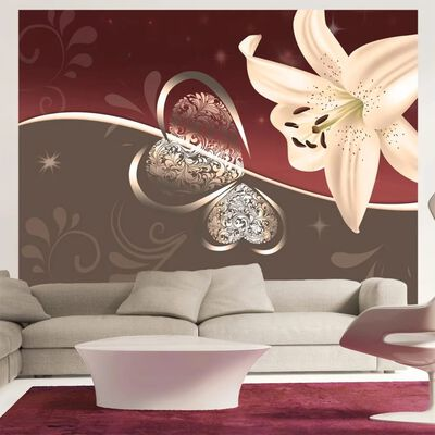 Fototapet - Cream Lily - 250x193 Cm