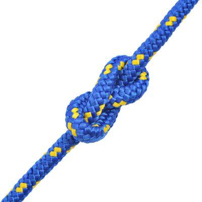 vidaXL Båtlina i polypropylen 14 mm 250 m blå