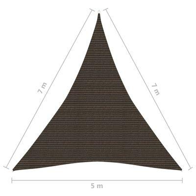 vidaXL Solsegel 160 g/m² brun 5x7x7 m HDPE