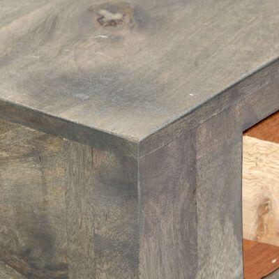 vidaXL Avlastningsbord grå 86x30x76 cm massivt mangoträ