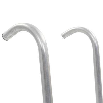 vidaXL Stege till studsmatta 2 steg stål silver 102,6 cm