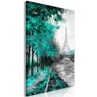 Tavla - Paris Channel (1 Part) Vertical Green - 40x60 Cm