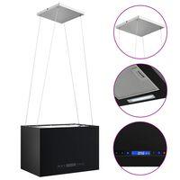 vidaXL Hängande köksfläkt touchsensor LCD 55 cm pulverlackerat stål