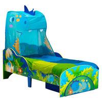 Worlds Apart Barnsäng med låda dinosaurier 142x77x138cm blå och grön
