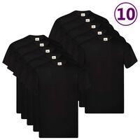 Fruit of the Loom Original T-shirt 10-pack svart stl. XXL bomull