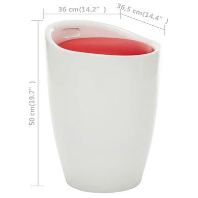 vidaXL Förvaringspall vit och röd konstläder