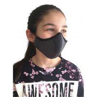 Tvättbar grå mask för barn - vuxna, munskydd-S,Grå