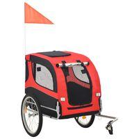 vidaXL Cykelvagn för hund röd och svart