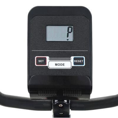 vidaXL Liggande motionscykel magnetisk drift och pulsmätning,