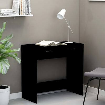vidaXL Skrivbord svart 80x40x75 cm spånskiva