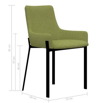 vidaXL Matstolar 2 st grön tyg