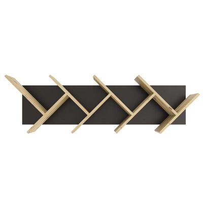 FMD Vägghylla geometrisk ek och svart