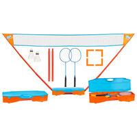 Get & Go Badmintonset blå och orange